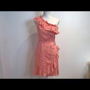 ULLA JOHNSON NWT SILK BLEND PEACH PINK DRESS SZ 6
